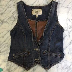 Vintage western style denim vest